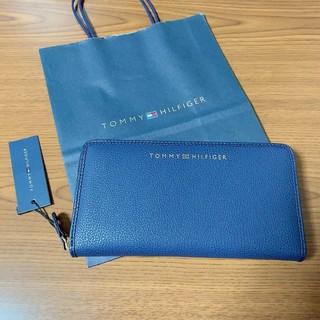 トミーヒルフィガー(TOMMY HILFIGER)の最新モデル 新品 トミーヒルフィガー 長財布 ネイビー レザー(財布)