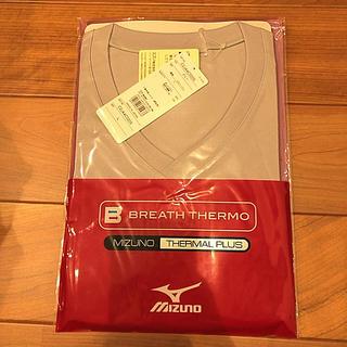 ミズノ(MIZUNO)のMIZUNO BREATH THERMO グレー L(Tシャツ(半袖/袖なし))