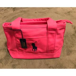 POLO RALPH LAUREN - ◆ポロ ラルフローレン新品未使用 スモールトートバッグ SM ピンク ミニバッグ