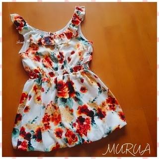 MURUA - 《MURUA》花柄 フラワープリント ワンピース F
