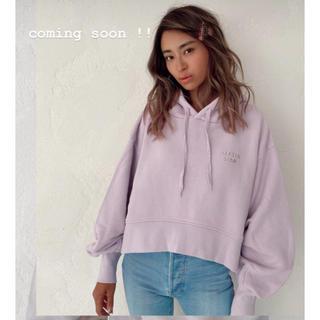アリシアスタン(ALEXIA STAM)の新作CroppedTuckSleeveHoodieSweatshirt(パーカー)