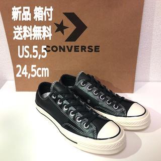 コンバース(CONVERSE)の新品★ct70converseチャックテイラー【BLACKレザー】(スニーカー)