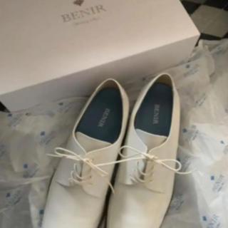 BENIR ベニル ブライダルシューズ 27 ホワイト 結婚式 新郎 靴 革靴