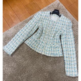 アナイ(ANAYI)の超美品!アナイ ツイード ジャケット 入学式 入園式 サイズ38(ノーカラージャケット)