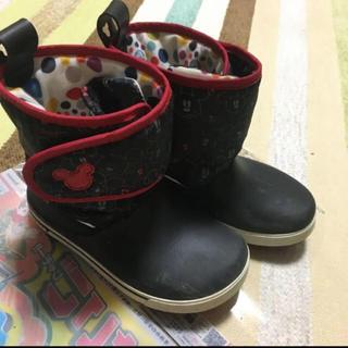 クロックス(crocs)のディズニー ミッキー クロックス  長靴 レインブーツ スノーブーツ J1(長靴/レインシューズ)