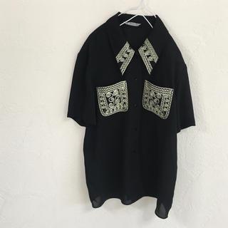 Santa Monica - vintageレトロ古着モード刺繍bigオーバーサイズブラウス