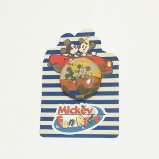 ミッキーマウス(ミッキーマウス)の【新品】ミッキー&ミニー ぷっくりピンバッジ FunRide(キャラクターグッズ)