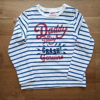 ダディオーダディー(daddy oh daddy)のDaddy Oh Daddy ボーダー長袖Tシャツホワイト 130(Tシャツ/カットソー)