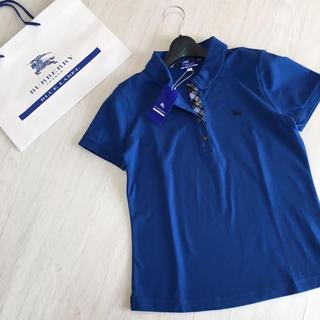 BURBERRY BLUE LABEL - 新品タグ付き☆バーバリーブルーレーベル ポロシャツ 40サイズ