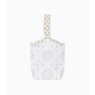 マメ(mame)のVinyl Chloride Cloth Handbag - white(ハンドバッグ)