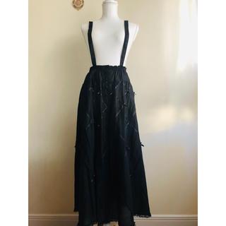 PINK HOUSE - ピンクハウス❤️全柄サテンリボンが可愛い綿ローン吊りスカート