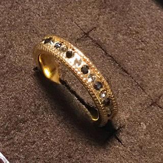 スワロフスキー(SWAROVSKI)の新品スワロフスキーハーフエタニティストレートミル14〜15 号ハンドメイド指輪(リング(指輪))