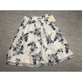 しまむら - マーキュリーデュオ風 シフォン花柄スカート 新品未使用品