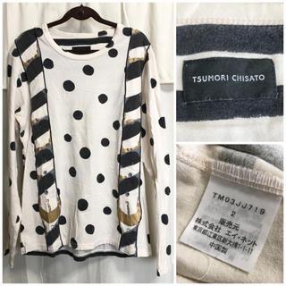 TSUMORI CHISATO - TSUMORI CHISATO だまし絵プリント 長袖Tシャツ カットソー 美品