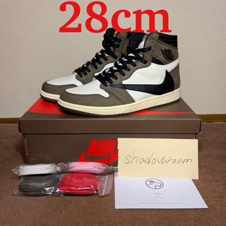 ナイキ(NIKE)のNIKE AIR JORDAN 1 TRAVIS SCOTT 28 US10(スニーカー)