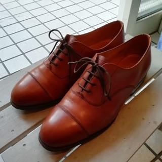 エドワードグリーン(EDWARD GREEN)の極希少美品 エドワードグリーン ストレートチップ 5.5(ローファー/革靴)