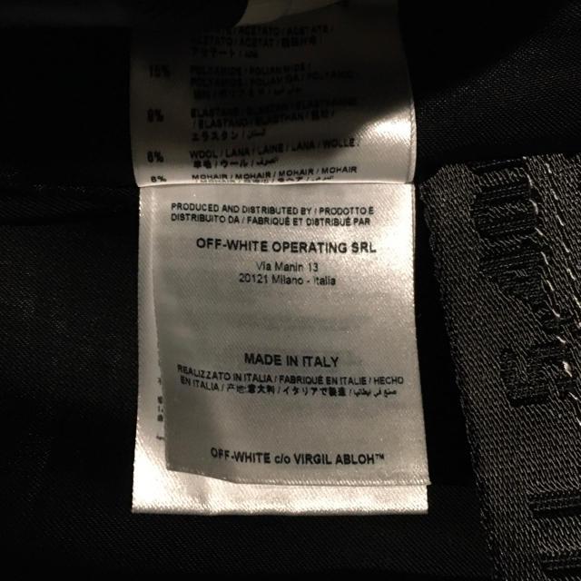 OFF-WHITE(オフホワイト)のoff-white bomber jacket ma-1  メンズのジャケット/アウター(フライトジャケット)の商品写真