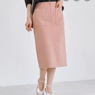 アダムエロぺ(Adam et Rope')のアダムエロペ ポケット付フロントジップタイトスカート(ひざ丈スカート)