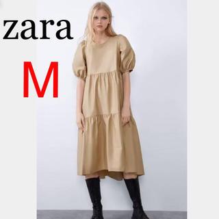 ZARA - 新品 ザラ アシンメトリー  ポプリン ワンピース  M 安室奈美恵