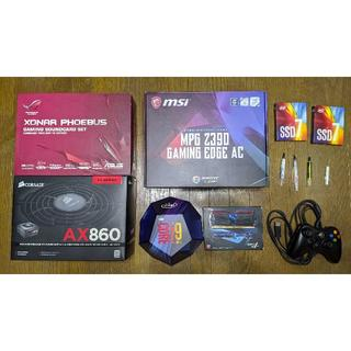 ASUS - i9 9900K Z390 SSD サウンドカード 電源 ゲーミングパーツセット
