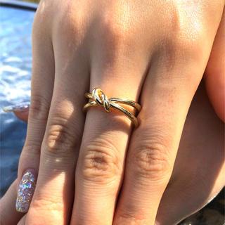 結びデザインリング ゴールド シルバー 指輪 アクセサリー アクセ リング(リング(指輪))
