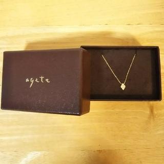 agete - アガット 18金 ネックレス ダイヤ アガットクラシック