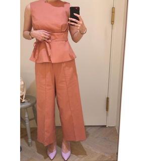 Mila Owen - 《新品タグ付き》ミラオーウェン サッシュベルト付パンツ セットアップ