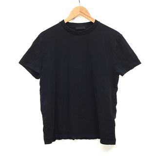 プラダ(PRADA)のPRADA プラダ メンズ コットンTシャツ 半袖 XL/LL 黒 ブラック(Tシャツ/カットソー(半袖/袖なし))