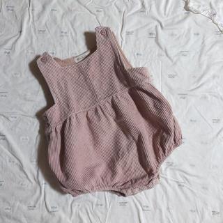着画あり♡韓国子供服♡コーデュロイロンパース80