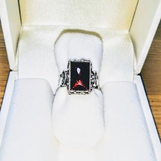 ゴスロリ風 ワインレッド 七宝焼リング(リング(指輪))