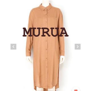 MURUA - MURUA♡サイドスリットロングシャツ/キャメル