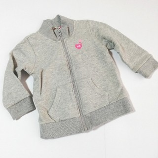 ホットビスケッツ(HOT BISCUITS)のホットビスケッツ♡ライトグレー 羽織り♡ジップアップトレーナー(Tシャツ/カットソー)