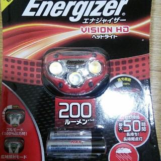 エナジャイザー(Energizer)のヘッドライト HDL200RD  エナジァイザー 登山 夜釣り クライミング(ライト/ランタン)