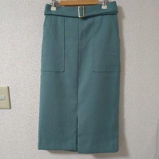 N.Natural beauty basic - N. くすみグリーン タイトスカート