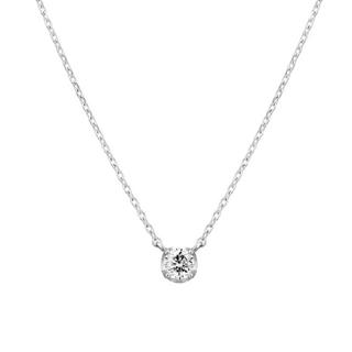 4℃ - 美品【4℃】K18YG  1粒 ダイヤモンド ペンダント ネックレス
