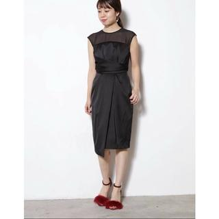 ラグナムーン(LagunaMoon)のラグナムーン シアーラップタイトドレス(ミディアムドレス)