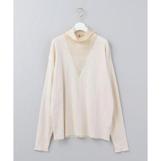 UNITED ARROWS - 6(ROKU)SILK HIGH NECK RIB PULLOVER/カットソー