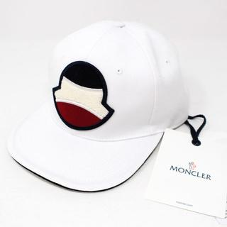 MONCLER - 新品 2020SS MONCLER ビッグロゴ キャップ ホワイト
