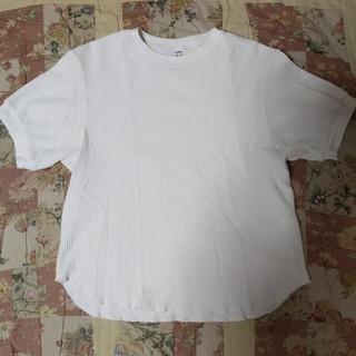ユニクロ(UNIQLO)のユニクロ ワッフルT ホワイト Lサイズ(Tシャツ(半袖/袖なし))