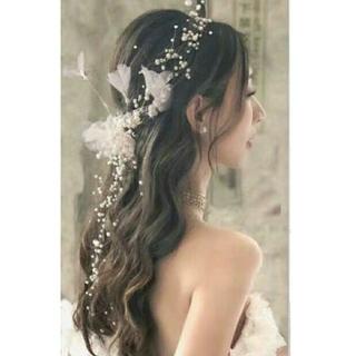 ティアラ ウエディング ヘッドドレス  ヘッドピース 髪飾り カチューシャ