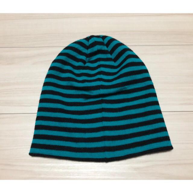 ⑩ ボーダー柄 ニット 帽子 メンズの帽子(ニット帽/ビーニー)の商品写真