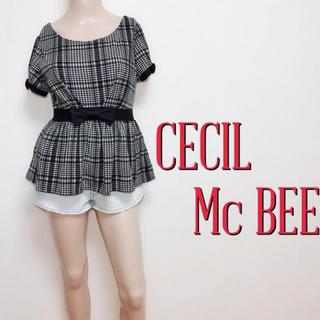 CECIL McBEE - 極美くびれ♪セシルマクビー スウィートペプラムトップス♡ダズリンジルスチュアート