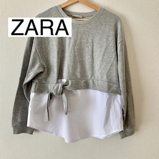 ZARA - 【ZARA】重ね着風トップス