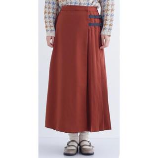 merlot - プリーツサイドベルト巻きスカート