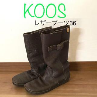 コース(KOOS)のKOOS レザーブーツ 36(ブーツ)