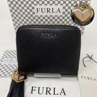 Furla - FURLA フルラ 二つ折り財布 ブラック 黒 チャーム ハート タッセル