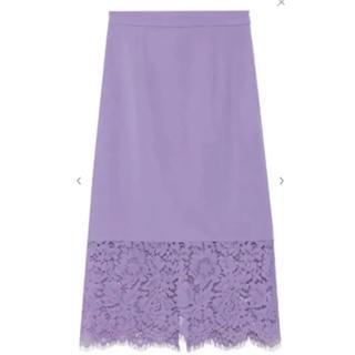 FRAY I.D - FRAY I.D パープル レースタイトスカート