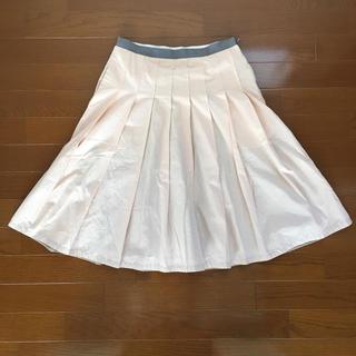 マーガレットハウエル(MARGARET HOWELL)のマーガレットハウエル スカート  美品 ピンク(ひざ丈スカート)