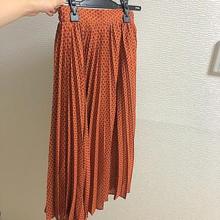 ジーユー(GU)のプリーツロングスカート(ロングスカート)