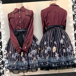 axes femme - 【2点セット】クラシカル王道スカート、襟付きブラウス★コーディネート
